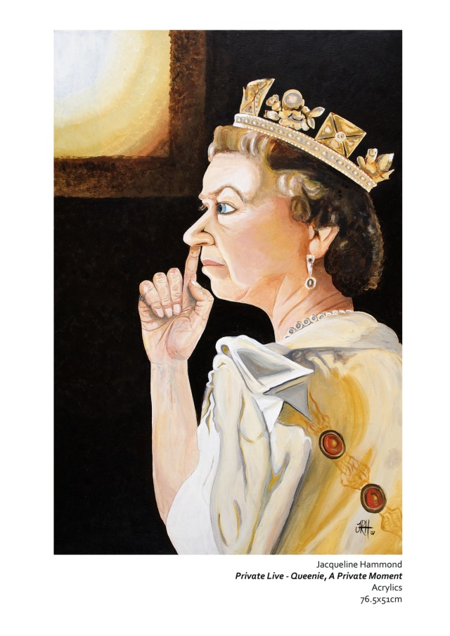 The Queen in a Private Moment painting by Jacqueline Hammond