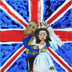 The Royal Family - caricature - pebbles