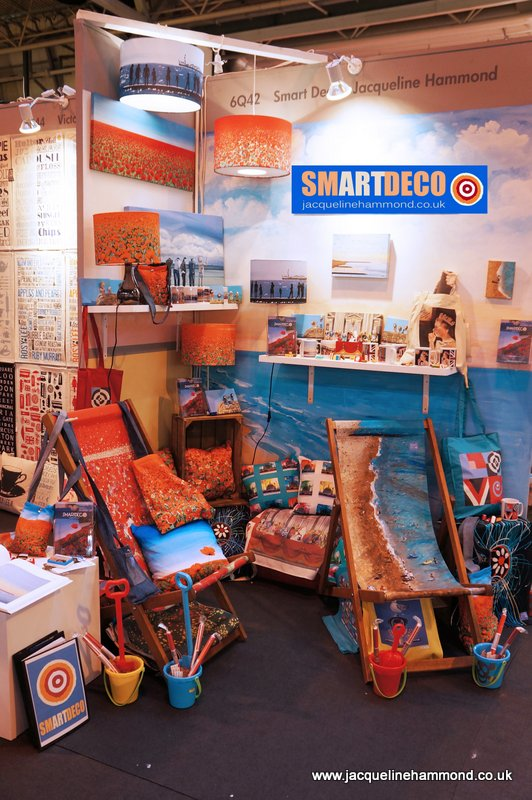 Smartdeco stand at Spring Fair 2013- Hall 6 (6Q42) - new contemporary homeware and gift range by British artist Jacqueline Hammond