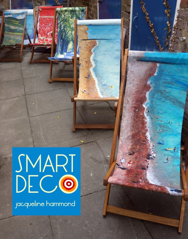 •Art framed in a deckchair. See a work of art you want and sit on it!