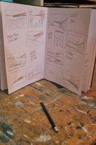 Sketch book - artist Jacqueline Hammond