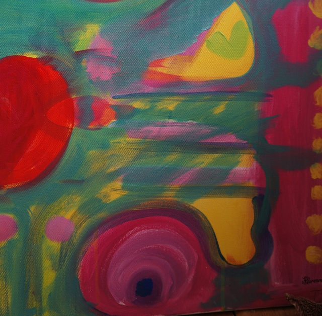 Painting in progress by Jacqueline Hammond