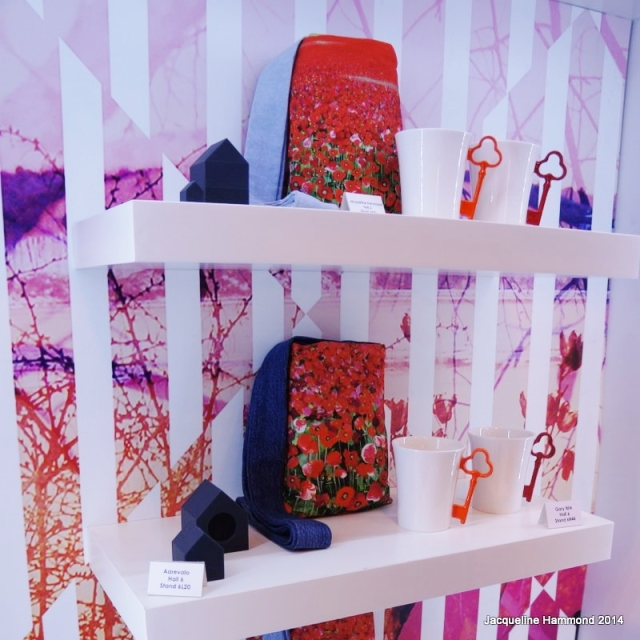 Poppy bags by Jacqueline Hammond selected by retail experts to represent a key trend for 2014 at Spring Fair Gift Box Hall 5