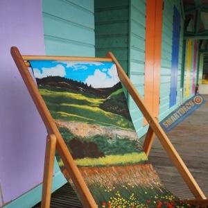 Santa Fe Fields deckchair by Jacqueline Hammond