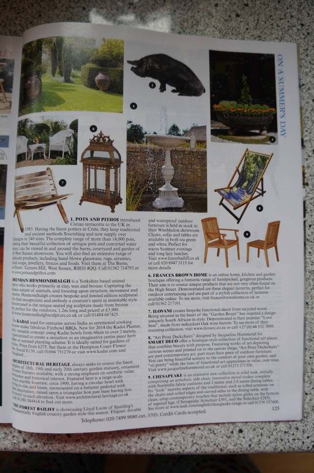 Country Lane Deckchair by Jacqueline Hammond for Smart Deco in The World of Interiors Magazine