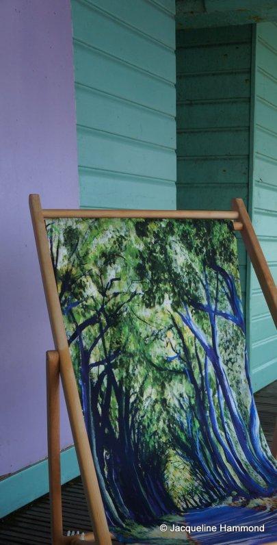 Smart Deco Deckchairs Country Lane Deckchair by British artist Jacqueline Hammond