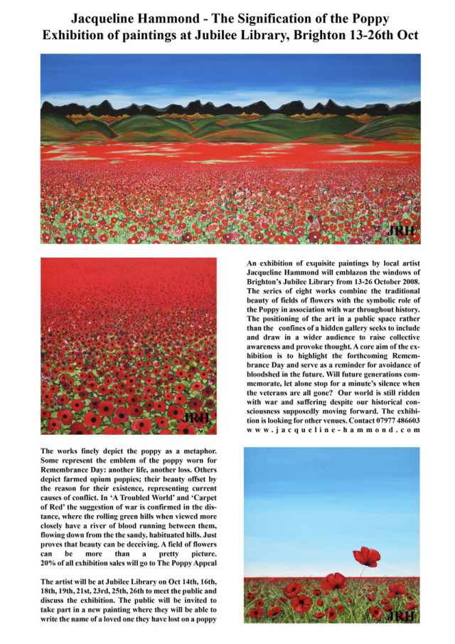 JRH poppy exhibition leaflet - poster