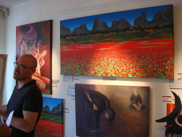 Jacqueline Hammond's poppy paintings