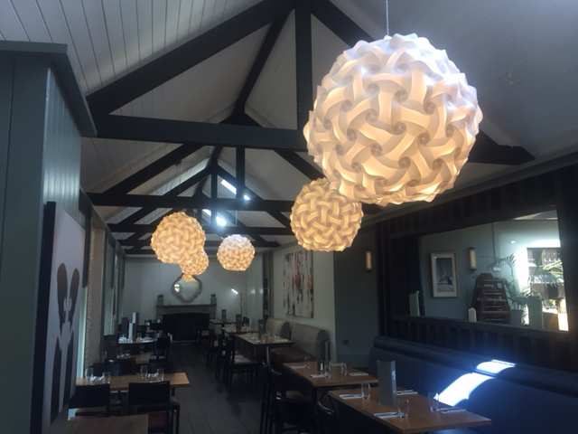 Elektra Smartylamps Smart Deco made for The Pigeon House, an award winning restaurant and wedding venue in the heart of Delgany Village, County Wicklow, Ireland