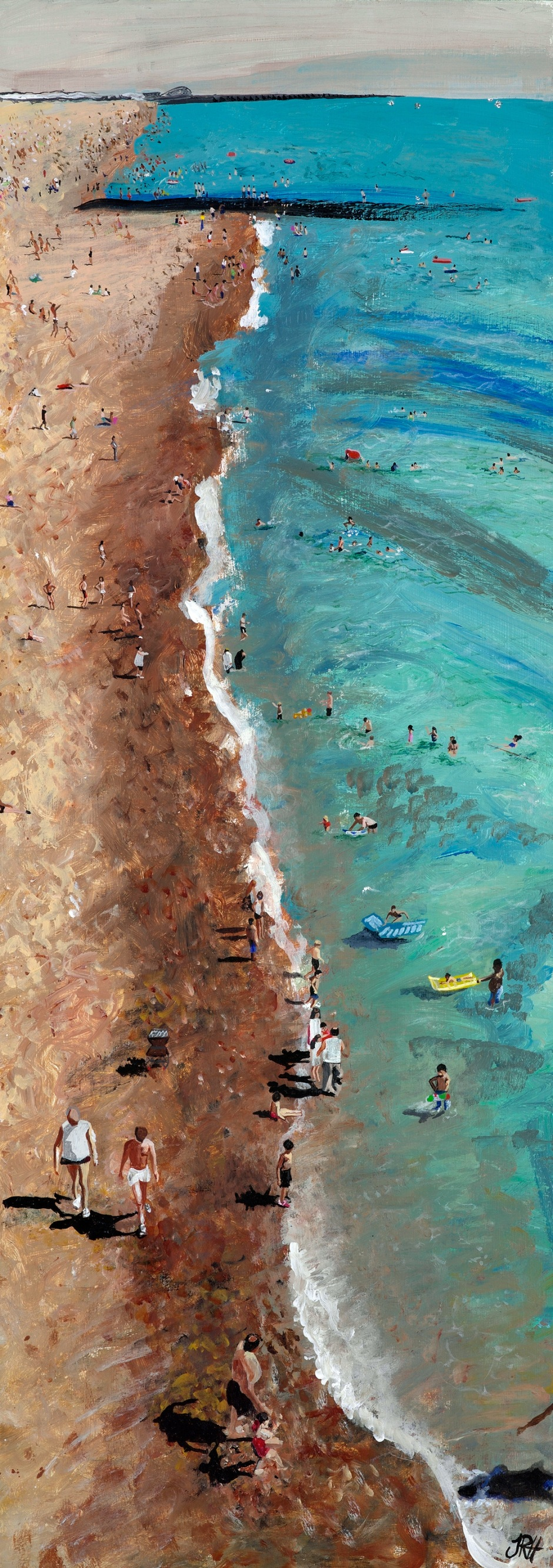 Life's a Beach painting by Jacqueline Hammond National Art Open